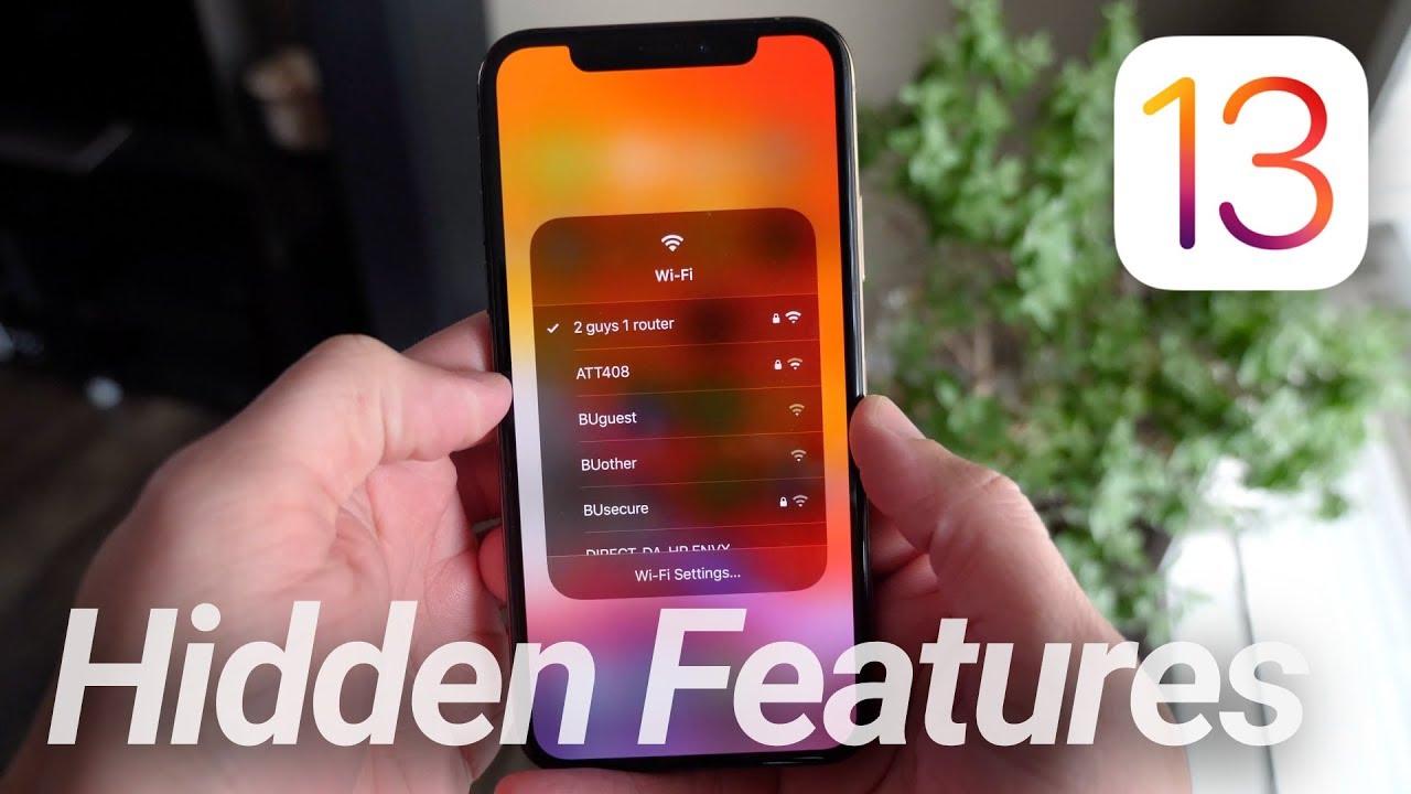ios 13 hidden features